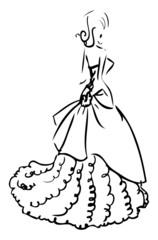 Woman Wedding dress white