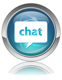 CHAT Web Button (Online Internet Blog Forum Live Online Site OK) poster