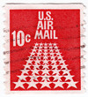 stamp printed in USA shows US Air Mail