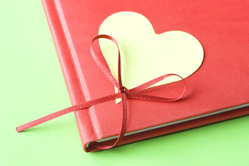 Blank Heart with Diary