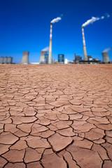 Power plant in desert