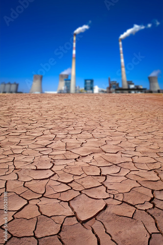 Power plant in desert