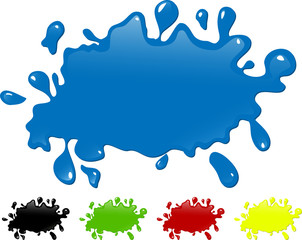 Several colors ink splash.