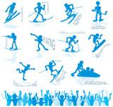 Fototapeta logo - sport - Sporty Zimowe