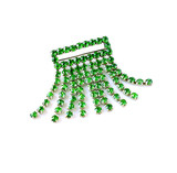 emerald green vintage brooch isolated over white poster