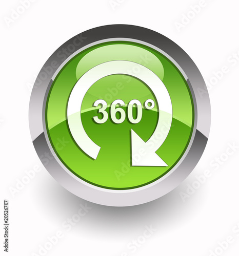 ''360° virtual tour'' glossy icon