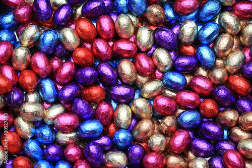 Chocolate easter eggs background