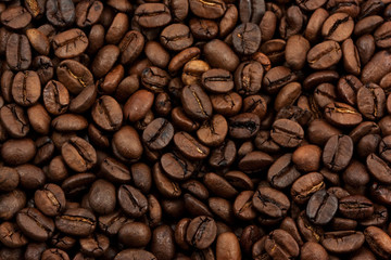 closeup coffee beans background
