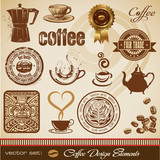Fototapety coffee design elements