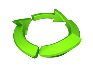 3d isolated ecology icon