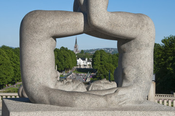 Sculpture Detail in a Park of Oslo, Norway