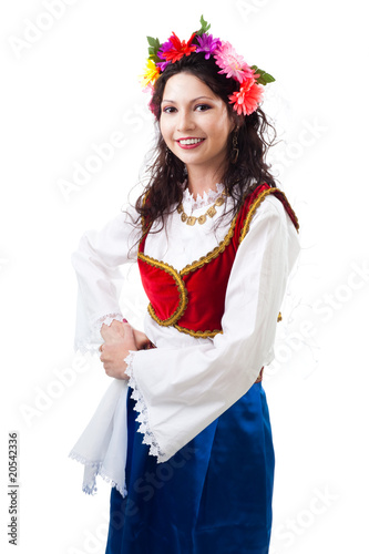 Woman in traditional Greek costume