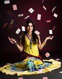 Gypsy woman with and cards
