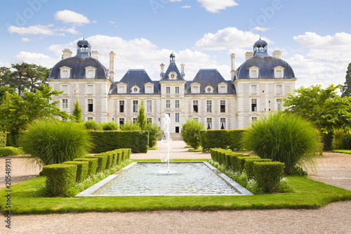 Papiers peints Con. ancienne Cheverny Chateau. View from apprentice's garden, France