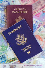 United States personal and official passports vertical