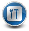 "Glossy Icon ""Tools Symbol"""
