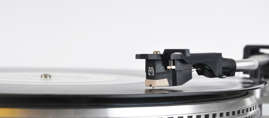 Needle of record player for plates