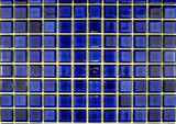 Fototapety ceramic  mosaic tiles in blue color