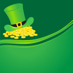 Leprechauns hat and gold coins.