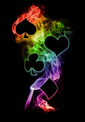 Rainbow Flame Poker Symbols