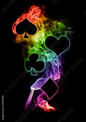 Rainbow Flame Poker Symbols