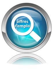 Bouton Web OFFRES D'EMPLOI (Recherche Entretien Embauche Job)