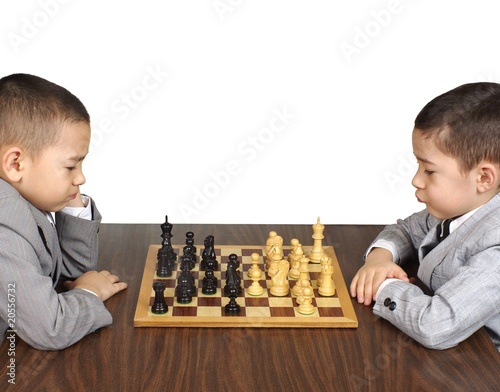 Boys playing chess