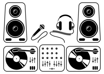 DJ equipment icons