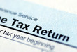 Close up view of the income tax return - 20560702
