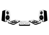 DJ equipment icons 3D