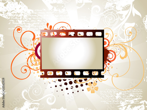 Photo reel vector art