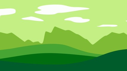 Green scenery graphics loop