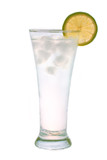 Ice water with lime