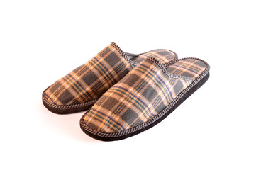 Plaid slippers
