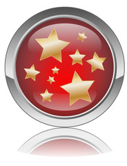 Web button (gold stars on red) (stars gossip entertainment)