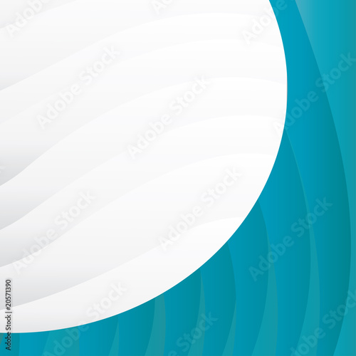 Blue business background  with waves, vector illustration