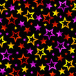 Stars background. Seamless vector.