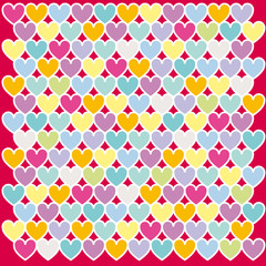 Mosaic abstract colours heart vector illustration