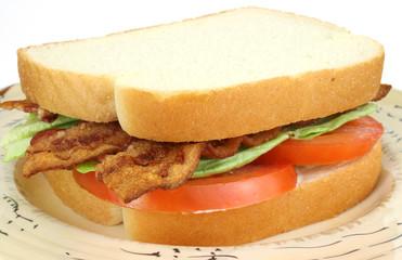 BLT sandwich on white bread