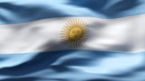 Creased argentina cotton  flag with visible wrinkle and seams poster
