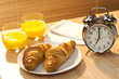 Healthy Continental Breakfast Croissant, Orange Juice & Alarm Cl