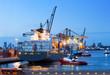 Leinwandbild Motiv Cargo ship docking