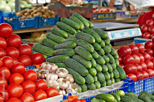Fresh vegetables for sale on farmers market