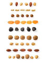 Dried fruits lines