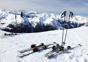 Ski on snow