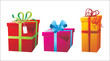 colorful presents boxes