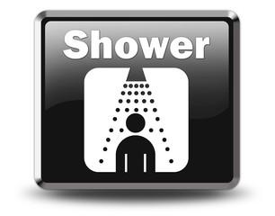 "Glossy Black Button ""Shower"""