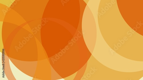 Abstract Yellow and Orange Graphics Loop for Video Edit