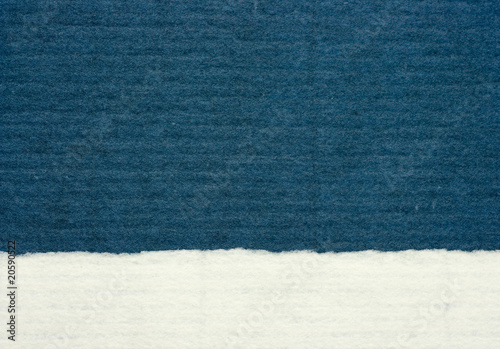 blue and white textured paper material