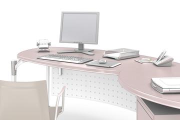 Bureau II - isolaed on white